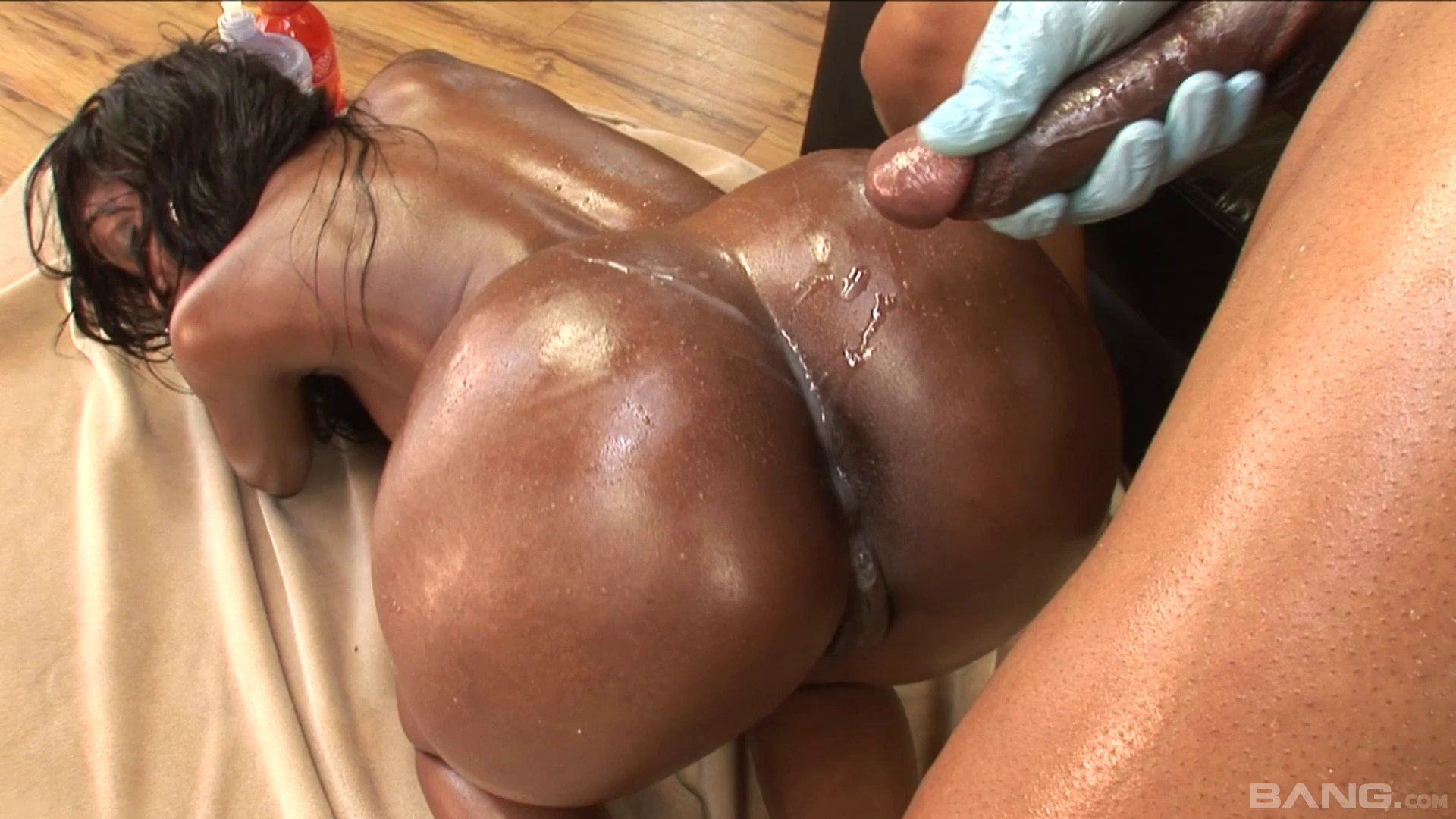 Ebony hottie with a nice ass Codi Bryant gets bent over and fucked