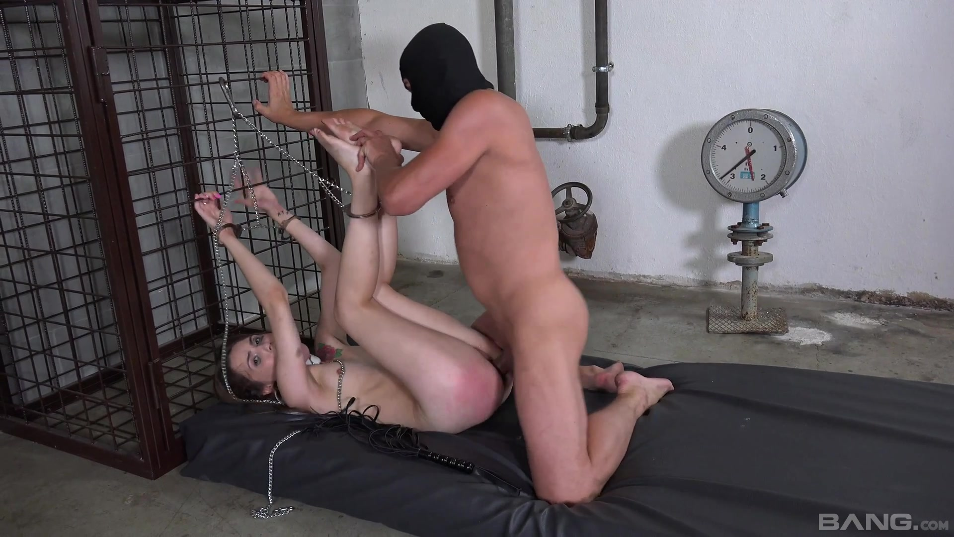 Bitch gets ass spanked by her master then brutally fucked