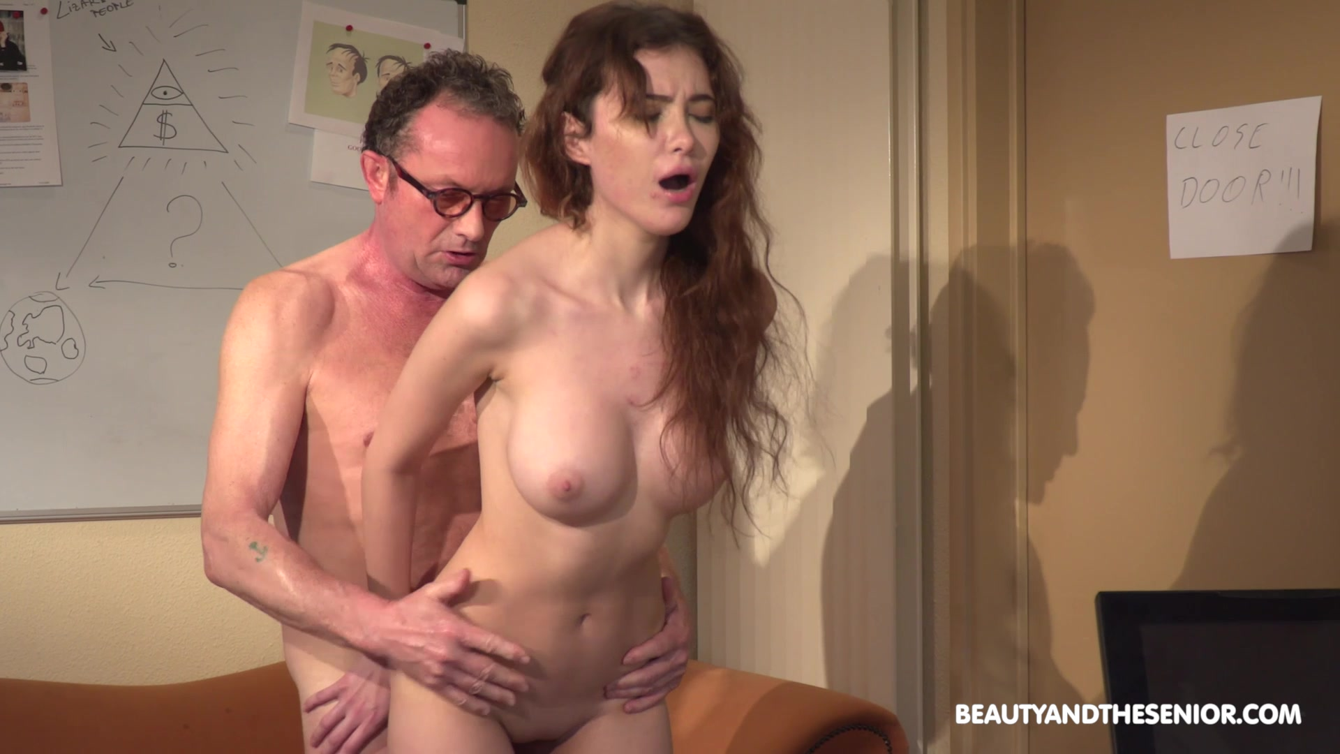 Young beauyt Gisha Forza drops her clothes for sex with and older guy
