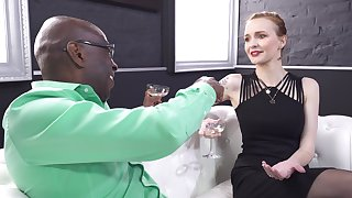 Beautiful Belle Claire makes a domineering black man's acquaintance
