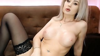 Gorgeous Blonde Sensually Plays Her Pussy