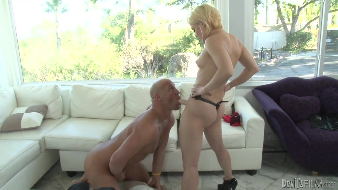 Ash Hollywood bends him over and strapon fucks him