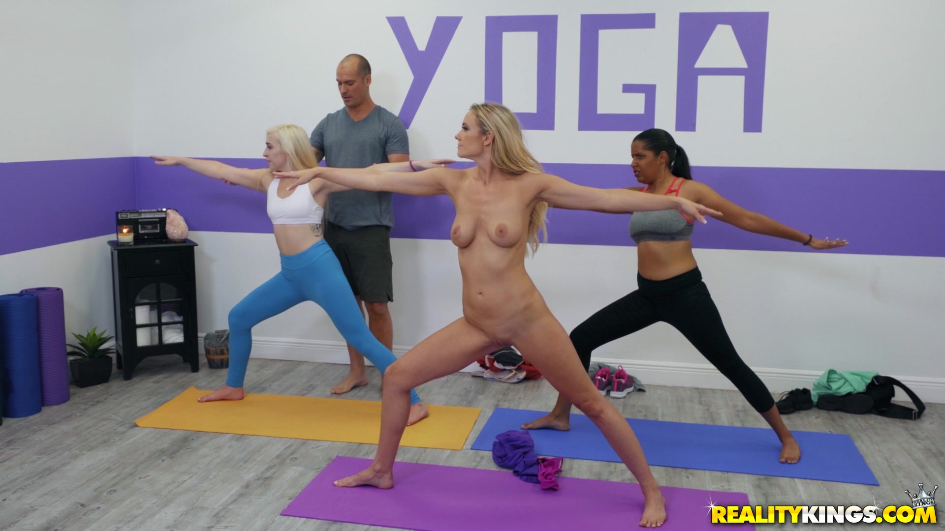 Yoga lesson grants Addie Andrews amazing sex moments
