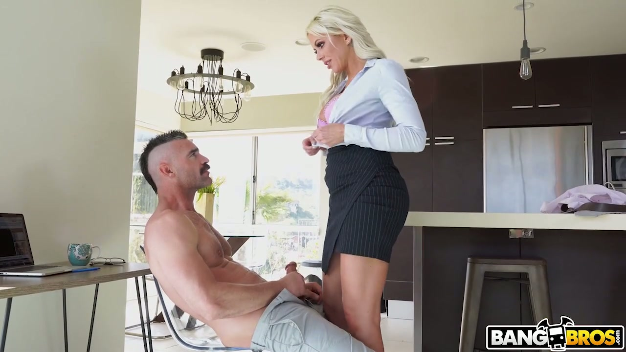 Hot blooded stud with thick dick bangs super sexy son's teacher Nina Elle